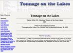 Tonnage on the Lakes