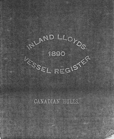 Inland Lloyds 1890 Vessel Register: Canadian Hulls