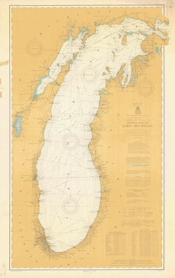 General Chart of Lake Michigan. 1906
