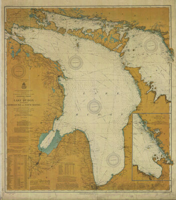 General Chart of Lake Huron including Georgian Bay and North Channel. 1908