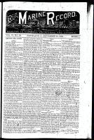 Marine Record (Cleveland, OH1883), September 25, 1884