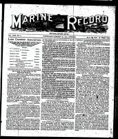 Marine Record (Cleveland, OH1883), January 25, 1900
