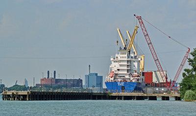 BBC EMS, docked at Brighton Beach