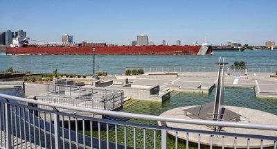 EDWIN H. GOTT; Detroit River passage #1