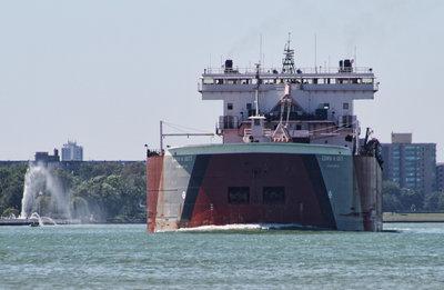 EDWIN H. GOTT; Detroit River passage #3