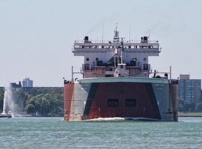 EDWIN H. GOTT; Detroit River passage #4