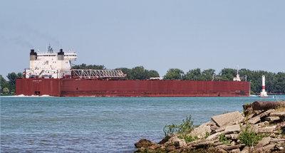 EDWIN H. GOTT; Detroit River passage #9