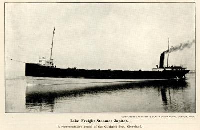 Lake Freight Steamer Jupiter