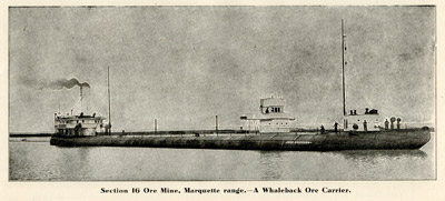 A Whaleback Ore Carrier