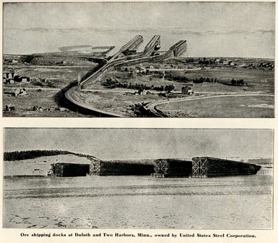 Ore shipping docs at Duluth and Two Harbors