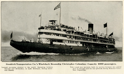 Goodrich Transportation Co.'s Whaleback Steamship Christopher Columbus