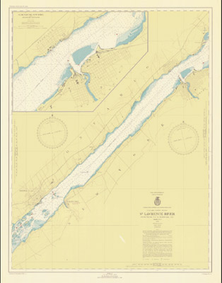 St. Lawrence River, Ogdensburg, N.Y. to Brockville, Ont., 1946