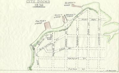 Plan of Hamilton Docks, 1842