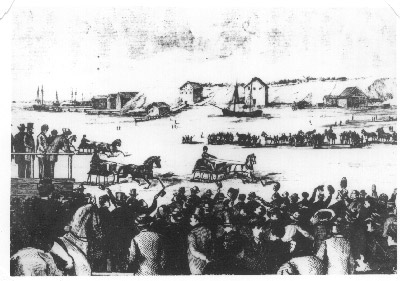 Winter sport on the Harbour in 1863
