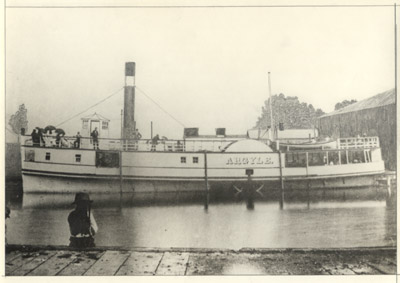 The steamer ARGYLE berthed in the Canal Basin at Dundas