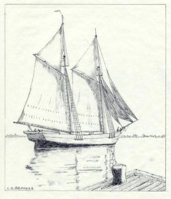 The schooner TRADE WIND.