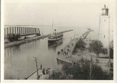 The steamer MACASSA in the Burlington Canal