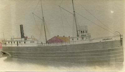 The steamer Arabian fitting out at Robertson's Shipyard in 1892
