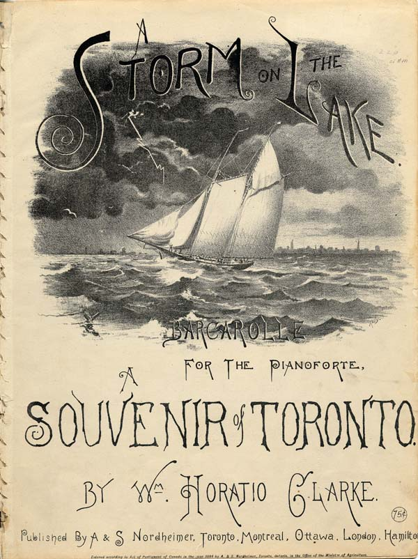 A Storm on the Lake: Barcarolle for the Pianoforte, A Souvenir of Toronto