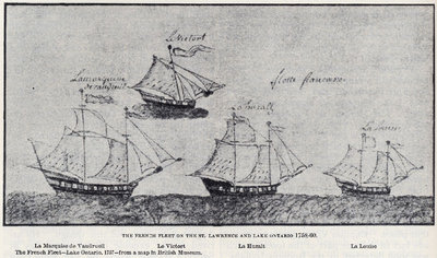 The French Fleet on the St. Lawrence and Lake Ontario 1758-60.