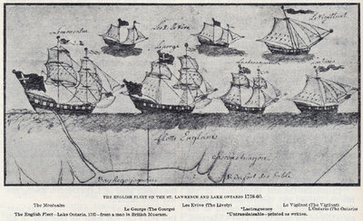 The English Fleet on the St. Lawrence and Lake Ontario 1758-60.