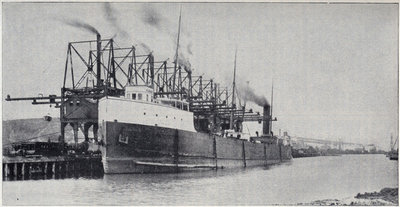 Steamer Unloading at Conneaut, Ohio.