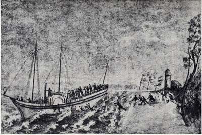 Wrecking of the Walk-in-the-Water, November 1, 1821