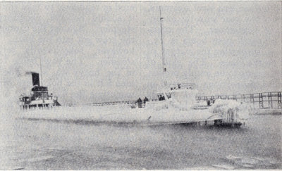 Arrival of whaleback at Cleveland in the Fall