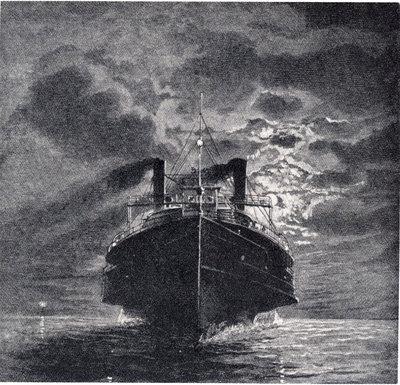 Night scene on Lake Erie