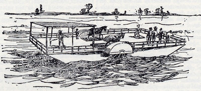 The first Ferry Horse Boat