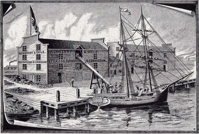 First Shipment of Grain from Chicago's first dock