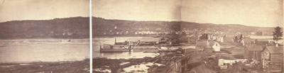 A View of Duluth, Minnesota; looking landward; taken December, 1870