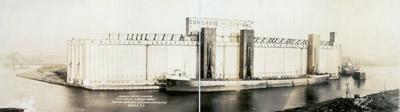 Concrete - central elevators, total capacity 4,500,000 bushels, Eastern Grain, Mill & Elevator Corporation, Buffalo, N.Y.