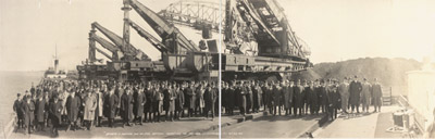 Members of American Iron and Steel Institute inspecting the ore docks, Cleveland, Oct. 23, 1915