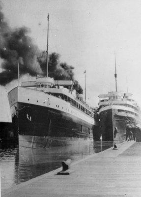 Hamonic and Noronic at Port Arthur, 1918