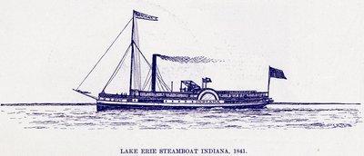 Lake Erie Steamboat INDIANA, 1841