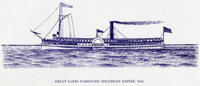 Great Lake Passenger Steamboat EMPIRE, 1844