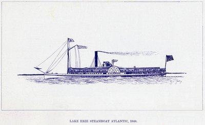 Lake Erie Steamboat ATLANTIC, 1848