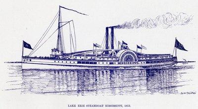 Lake Erie Steamboat Mississippi, 1853
