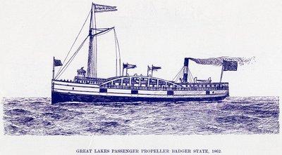 Great Lakes Passenger Propeller Badger State