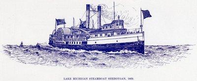 Lake Michigan Steamboat SHEBOYGAN, 1869