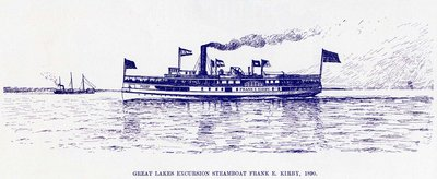 Great Lakes Excursion steamboat FRANK E. KIRBY, 1890