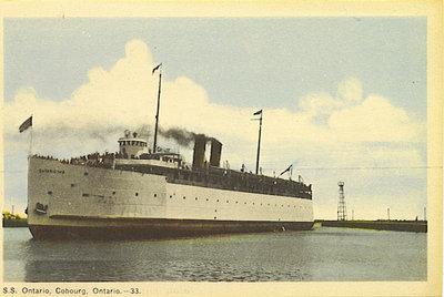 S.S. Ontario, Cobourg, Ontario