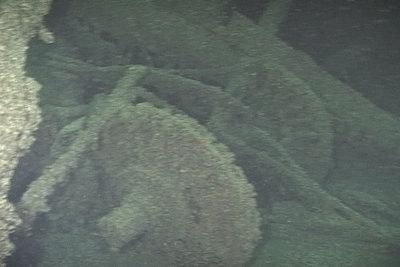 Debris around the wreck of the OCEAN WAVE