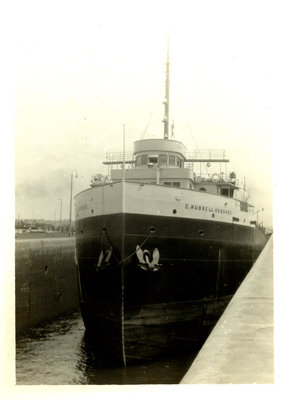 C. RUSSELL HUBBARD in the Soo Locks