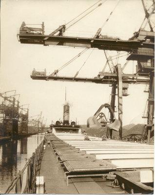 The LEONARD B. MILLER unloading coal