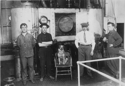 Engine crew of the THOMAS WALTERS