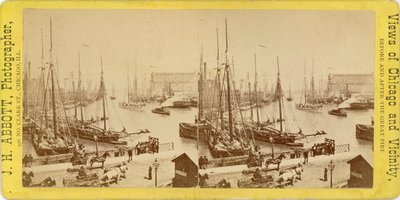 Chicago River before the great fire