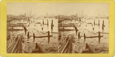 Chicago River after the great fire