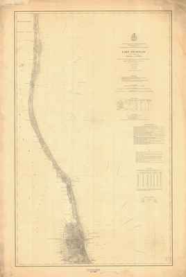 Lake Michigan Coast Chart No. 4: Chicago to Kenosha, 1877 (1890)
